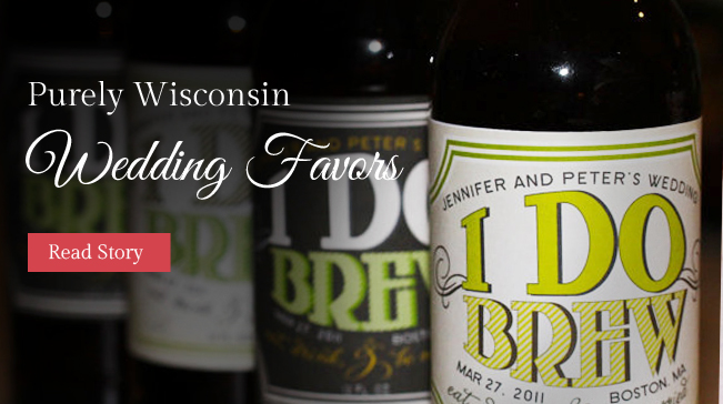 Wisconsin wedding favors