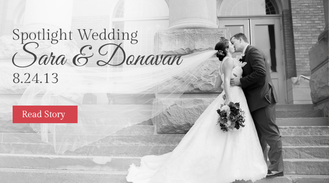 Spotlight wedding banner